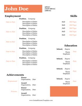 Resume cover letter availability